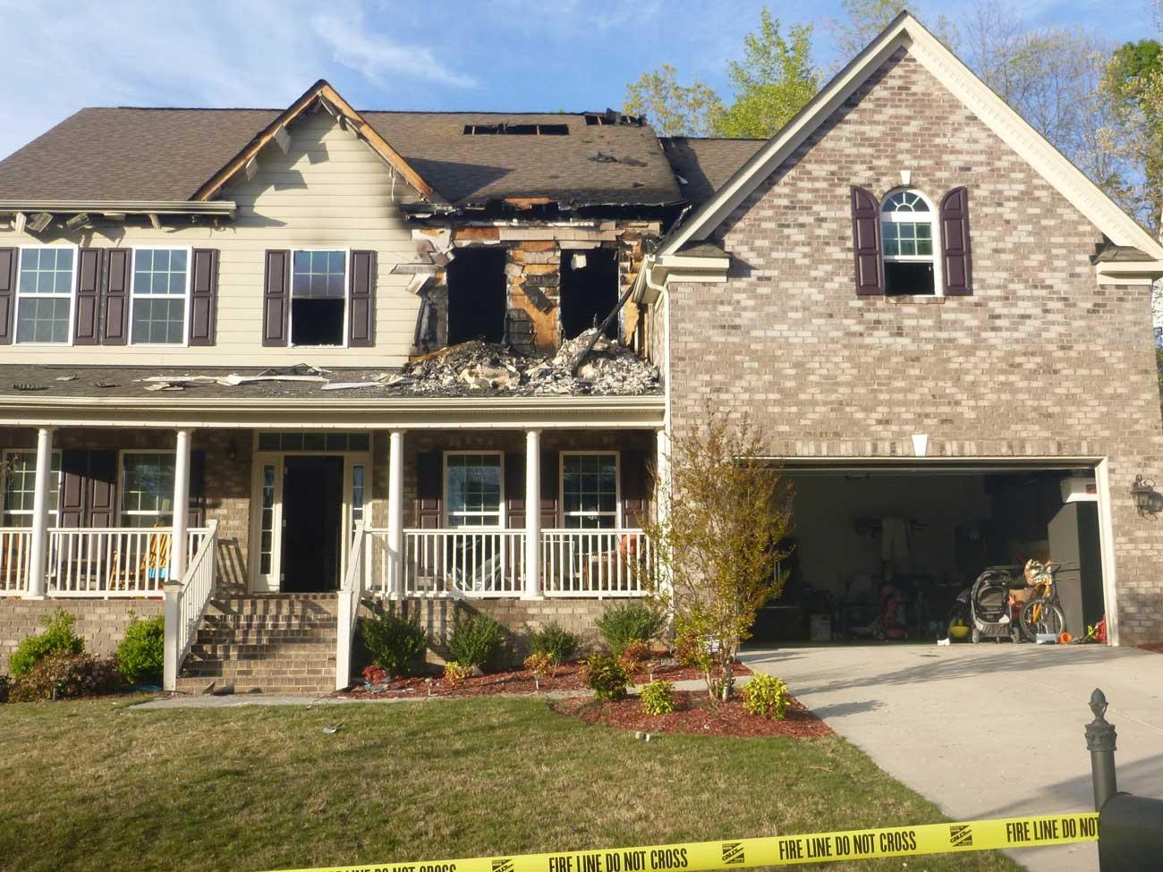 Fire Damage Restoration Project 1